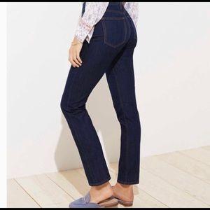 NEW LOFT Modern Straight jeans in dark wash sz 6